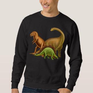 Amo la camiseta oscura adulta de los dinosaurios