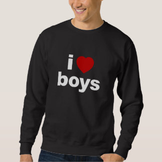 Amo la camiseta oscura básica de los muchachos jersey