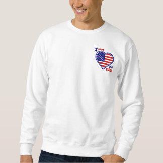 Amo la camiseta para hombre de la bandera del sudadera con capucha