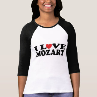Amo la camiseta para mujer del jersey de Mozart