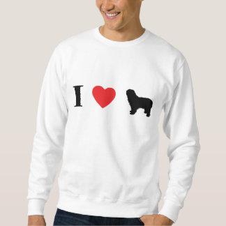 Amo la camiseta polaca de los perros pastor de la sudadera con capucha