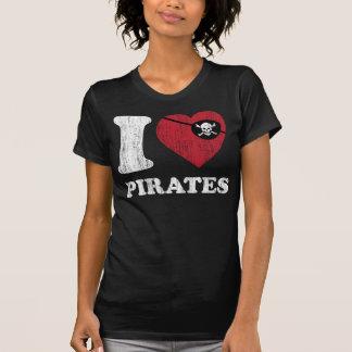 amo la camiseta retra del estilo del vintage fresc