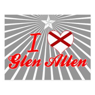 Amo la cañada Allen, Alabama Postales