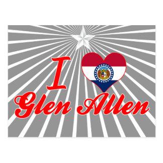 Amo la cañada Allen, Missouri Tarjeta Postal