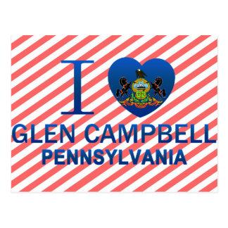 Amo la cañada Campbell, PA Tarjeta Postal