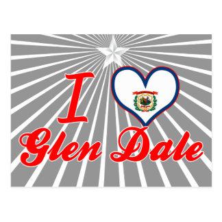 Amo la cañada Dale, Virginia Occidental Tarjetas Postales