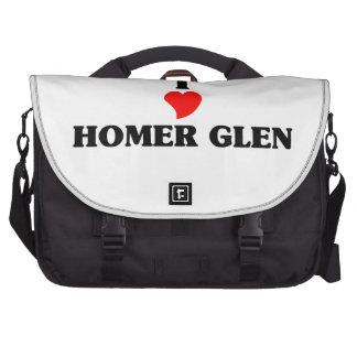 Amo la cañada del home run bolsas de portatil