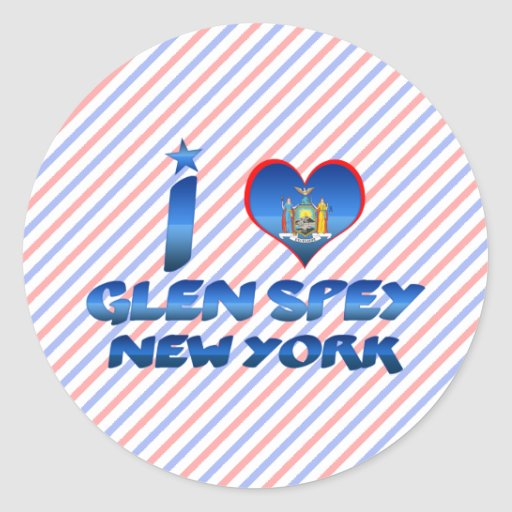 Amo la cañada Spey, Nueva York Etiqueta Redonda