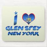 Amo la cañada Spey, Nueva York Alfombrillas De Raton