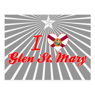 Amo la cañada St Mary, la Florida Postales