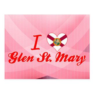 Amo la cañada St Mary, la Florida Tarjeta Postal