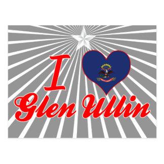 Amo la cañada Ullin, Dakota del Norte Tarjetas Postales