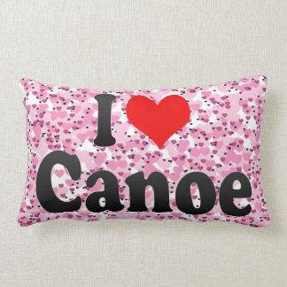 Amo la canoa cojín