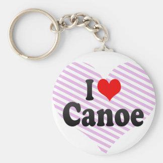 Amo la canoa llavero redondo tipo pin
