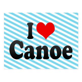 Amo la canoa postales