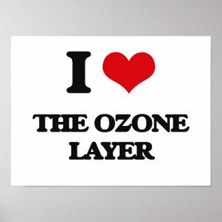 Amo la capa de ozono póster