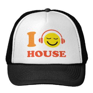 Amo la cara sonriente de la música de la casa con gorras