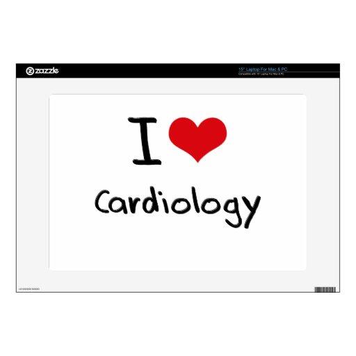 Amo la cardiología calcomanías para portátiles