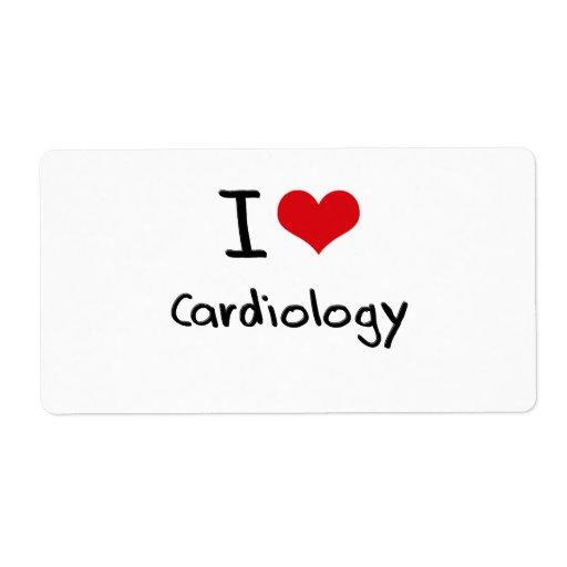 Amo la cardiología etiqueta de envío