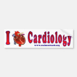 Amo la cardiología pegatina para auto