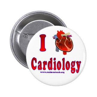 Amo la cardiología pin redondo 5 cm