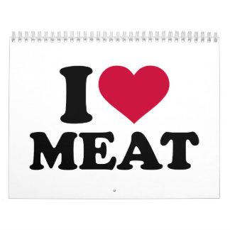 Amo la carne calendario