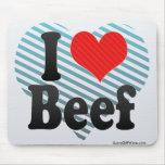 Amo la carne de vaca alfombrilla de ratón
