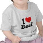 Amo la carne de vaca camiseta