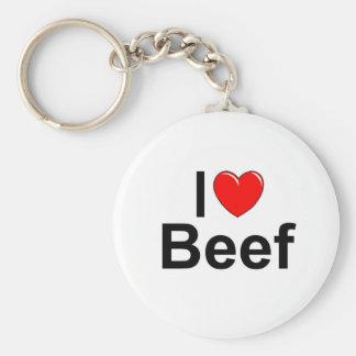 Amo la carne de vaca (del corazón) llavero redondo tipo pin