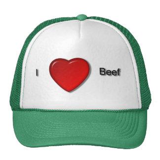 Amo la carne de vaca gorros bordados