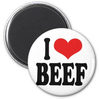 Amo la carne de vaca imán para frigorifico