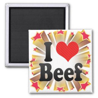 Amo la carne de vaca imán de frigorifico