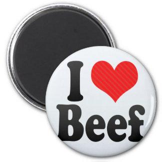 Amo la carne de vaca iman para frigorífico