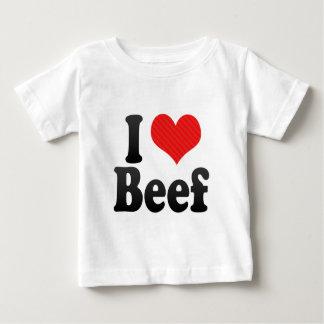 Amo la carne de vaca playera de bebé