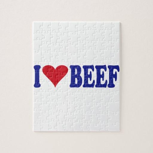 Amo la carne de vaca puzzle