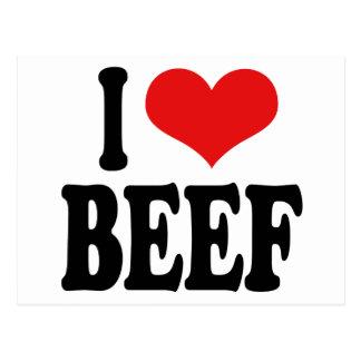 Amo la carne de vaca postales