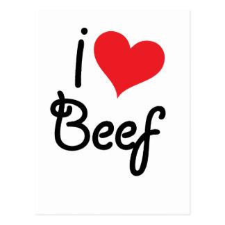 Amo la carne de vaca tarjeta postal