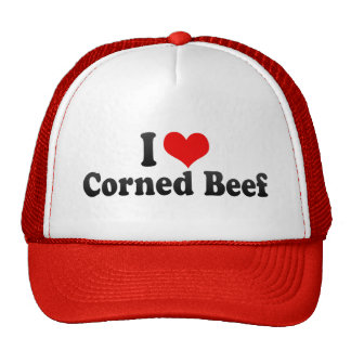 Amo la carne en lata gorras