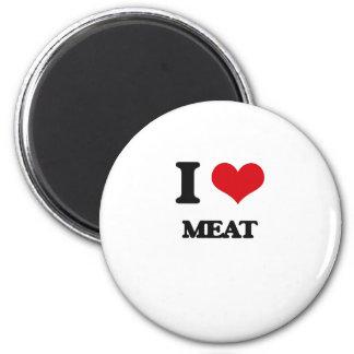 Amo la carne imanes de nevera