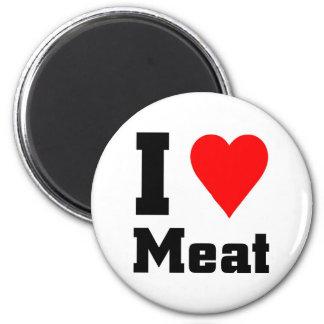 Amo la carne imán de nevera