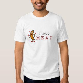 Amo la carne playeras