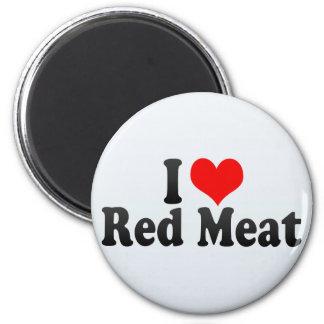 Amo la carne roja imanes para frigoríficos