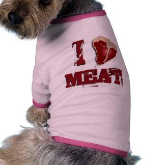 Amo la carne ropa de perro