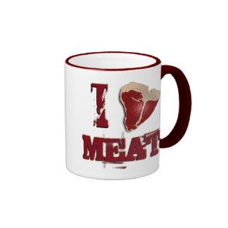 Amo la carne taza a dos colores