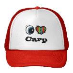 Amo la carpa (del corazón) gorras