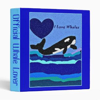 Amo la carpeta de anillo de la orca 3 de las balle