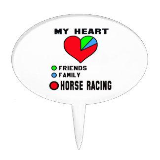 Amo la carrera de caballos decoración para tarta