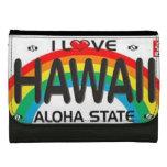 Amo la cartera de cuero de Hawaii