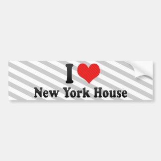 Amo la casa de Nueva York Pegatina De Parachoque