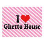 Amo la casa del ghetto tarjeta postal